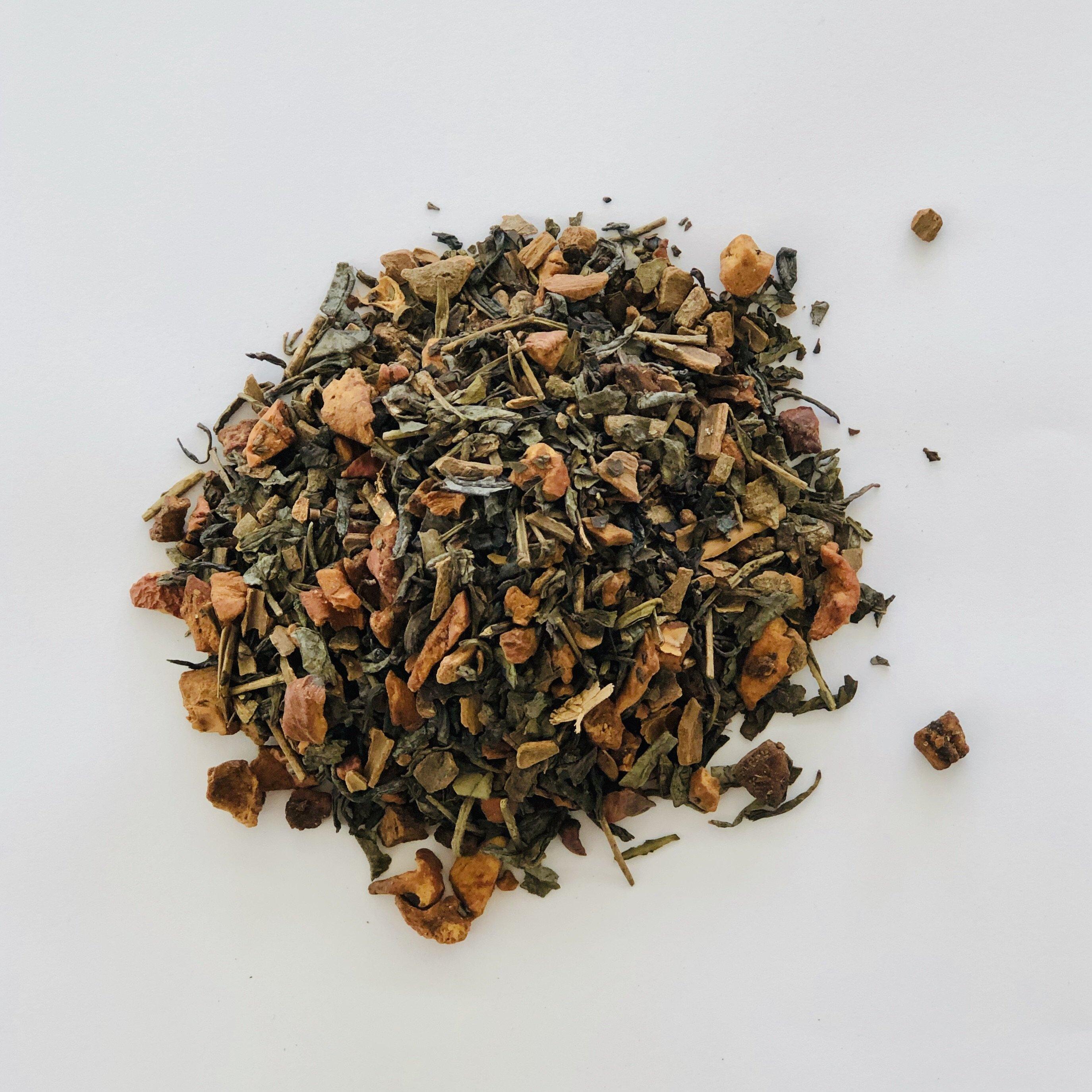 Green Tea with Apple and Cinnamon