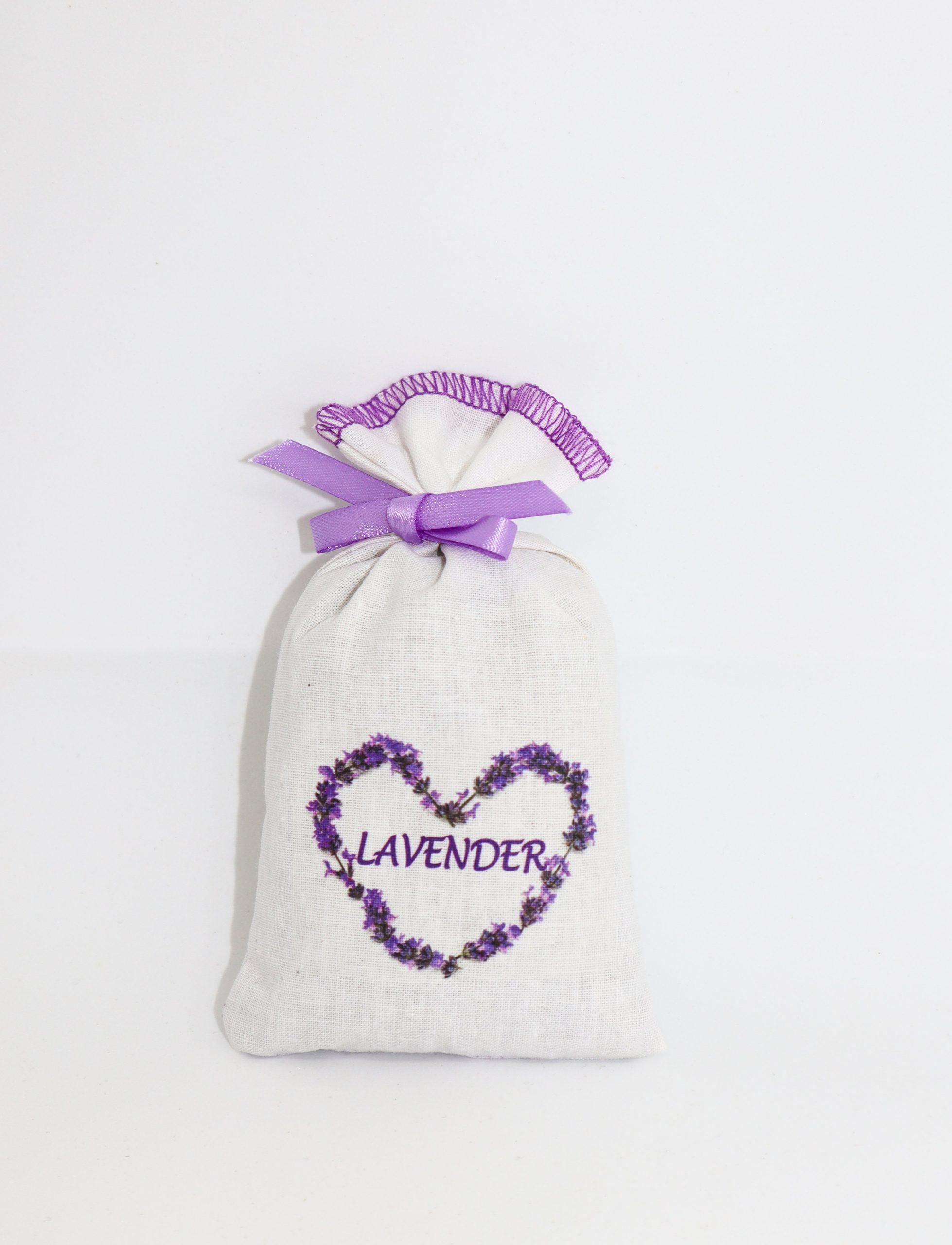 Lavender Cotton Pouch