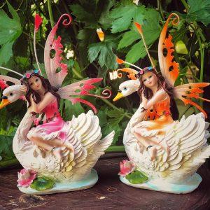 Fairy on swan