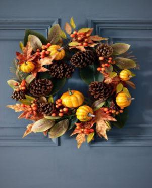 pumpkin wreath to create for halloween 2021